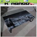 2013 nuevo& caliente- vender moderno imagen superior pintura de vidrio negro pintado pierna escritorios de la computadora