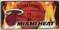 Miami Heat w / Flames matrícula