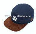 china libre equipado 5 bordado panel de sombrero con faux suede pico