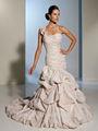 vestido de novia de color rosa de un solo hombro vestido de fiesta de tafetán con cuentas de luz