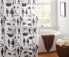 tela de la cortina de la ducha a juego de la resina ganchos