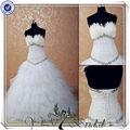 Jj3527 vestido de bola pluma de china por encargo de la boda vestido con perlas de diamantes&