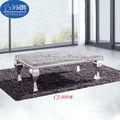 Muebles para el hogar de diseño moderno de acero inoxidable de café de mármol/mesa de té cj-809