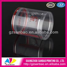 Ronda claro cajas plasctic, acetato de cajas de embalaje transparente