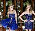 elegante tn3680 vaina de encaje de cuentas desmontable con la cola corta vestido de fiesta 2014