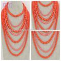 collar de perlas babero crylic