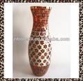 flor roja diseño floral de boda patrones hechos a mano gran altos jarrones de cristal moasic
