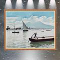 pintura al óleo del barco paisaje