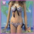 Maravilloso Diseño Estilo de la moda de verano para jóvenes Beach Zebra conjunto bikini para la Mujer PP4269-2