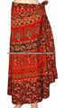 falda envolvente algodón étnicos impresa hippie gitano mujeres's largo abrigo alrededor falda