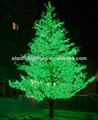 Al aire libre led del árbol de arce luces/decorativa led luces de la flor del árbol luminoso
