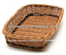 natural de venta al por mayor de mimbre bandeja de pan cestas