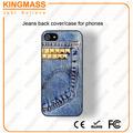 2014 Caja del teléfono Nuevos productos de moda de los pantalones vaqueros / tela para Iphone