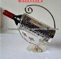 prata banhado a moda moda sênior theroom ferro forjado vinho rack vinho rack decoração vinho stand