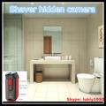 2014 cámara de videoinvisibile cuarto de baño pequeño de vídeo cámara oculta, a prueba de agua de la ducha oculta cámara pq143
