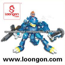Loongon cerdo héroe guerrero con llama 238PCS juguetes didácticos