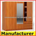 Panneaux de particules de meubles/melamien armoire chambre à coucher en bois/garde-robe de chambre en bois