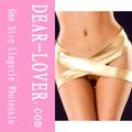 sizzling cruzado panty metálico de oro chica sexy tangas