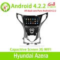 Puro android 4.2.2 novo hyundai azera carro dvd player com bluetooth/rádio/tv/gps/3g/wifi/android! De boa qualidade!