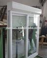 moderno residencial de aluminio del obturador del rodillo con ventana corredera