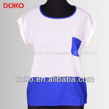 2014 diseños blusas de las señoras de grasa mangas cortas