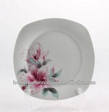 Pratos de porcelana, prato quadrado de porcelana, prato de cerâmica