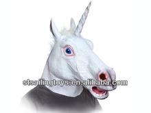 2014 caliente de la venta de látex de halloween unicornio animales máscaralos la cabeza