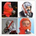 De alta calidad portátil fire escape máscara/fuego humo máscara/campana de fuego