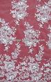 trabajo hecho a mano de marfil bordado de la cinta de tela de encaje