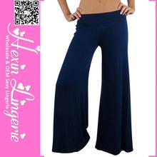 2014 de alta calidad de las mujeres vestido nuevo diseño pantalones palazzo pantalones