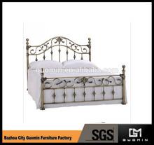 longfang king size camas de hierro forjado