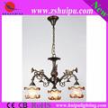 china clásica de estilo flor de la lámpara