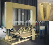 de lana de roca con aislamiento de tuberías de la máquina de corte