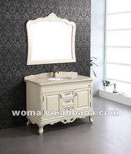 WOMA 3089 guangdong diseños de baño caliente de la venta, mueble de baño de madera sólida
