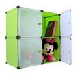 muebles para el hogar decorativos cubo closets con estilo de bricolaje organizador de múltiples niños armario de plástico