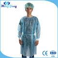 antiséptico productos desechables no tejidos azul bata de laboratorio