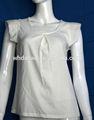 blanco nuevo diseño blusa de verano damas
