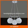 2014 luces colgante bola de cristal anillo colgante de iluminación yc-56819f
