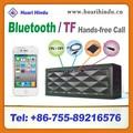2014 novos produtos protable sem fio bluetooth alto-falante com rádio fm tf cartão sd amplificador de voz