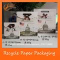 papel de lujo bolsa de regalo con troquelado