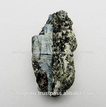 . fantástico australiano teal cianita en forma de matriz, semi preciosas naturales fabricante de piedras preciosas