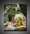 pop de qualidade da flor e fruto da pintura a óleo sobre tela
