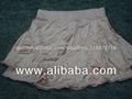 Las niñas en las faldas de satén de poliéster teñidos de melocotón con el tamaño a 2-3y 8-9 de y faldas de raso para las niñas j