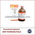 los animales de la medicina inyectables 100ml paracetamol