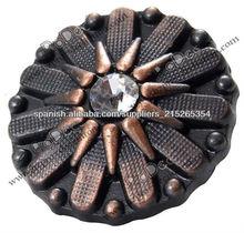 Nuevo botón de los pantalones vaqueros de diseño de metal con el rhinestone