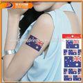 Papel del tatuaje temporal, tatuaje temporal brillo removedor, de encargo del tatuaje temporal para los niños