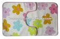 impresión de la flor de algodón alfombra de baño