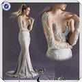 jj3703 boad simples pescoço manga longa laço vestido de noiva 2015