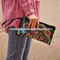 mesdames coton jute poignée sac à main de broderie hmong