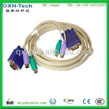 Moldeado 3-in-1 cables kvm, ps svga/2 m/f- 6ft( negro)
